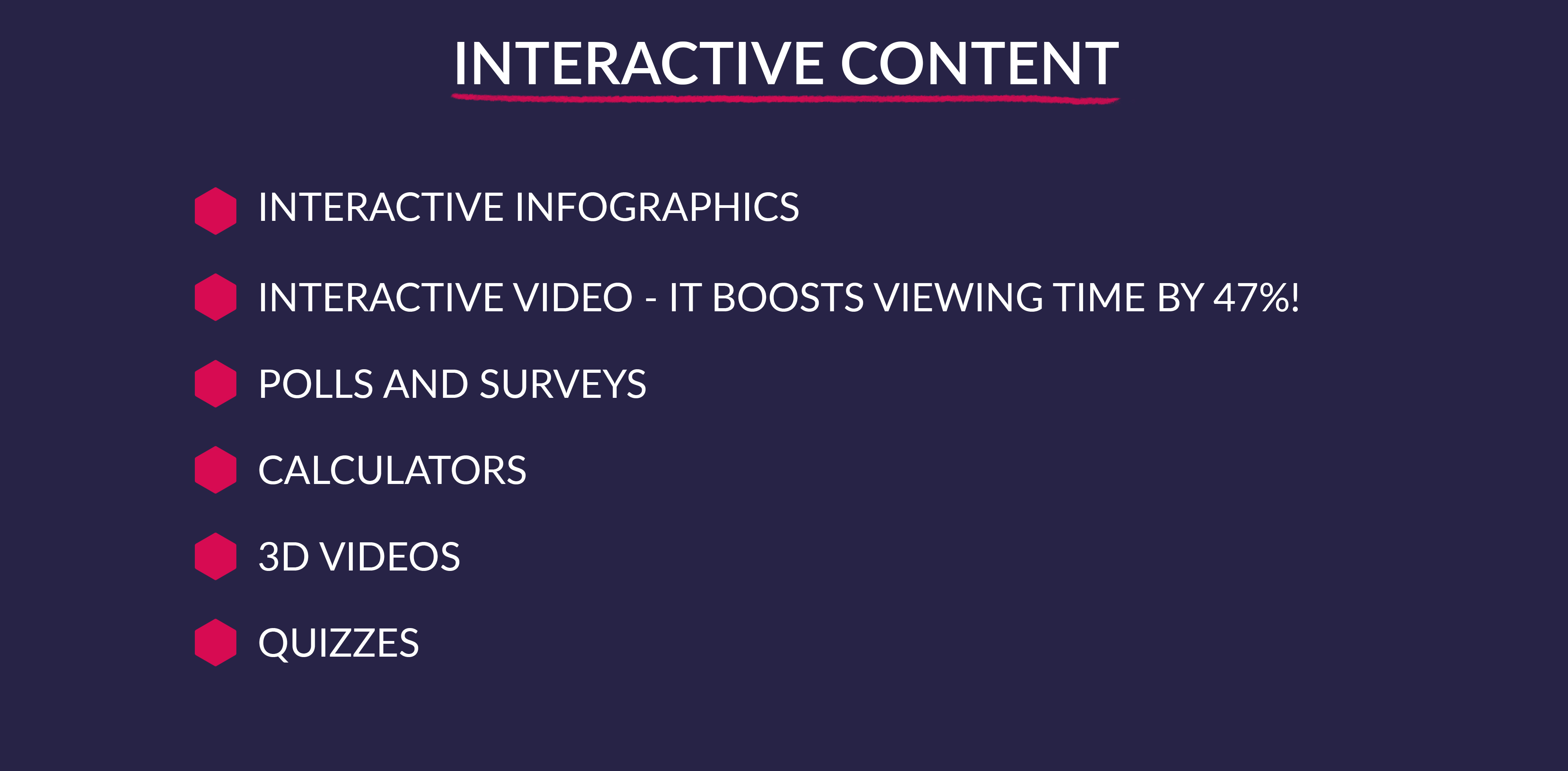 Provide customers with interactiv