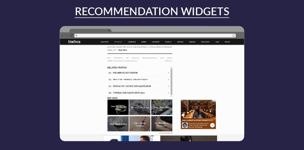 Recommendation-widgets