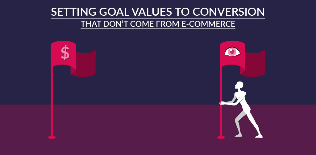 3. Setting goal values to conversions that don't come from e-commerce