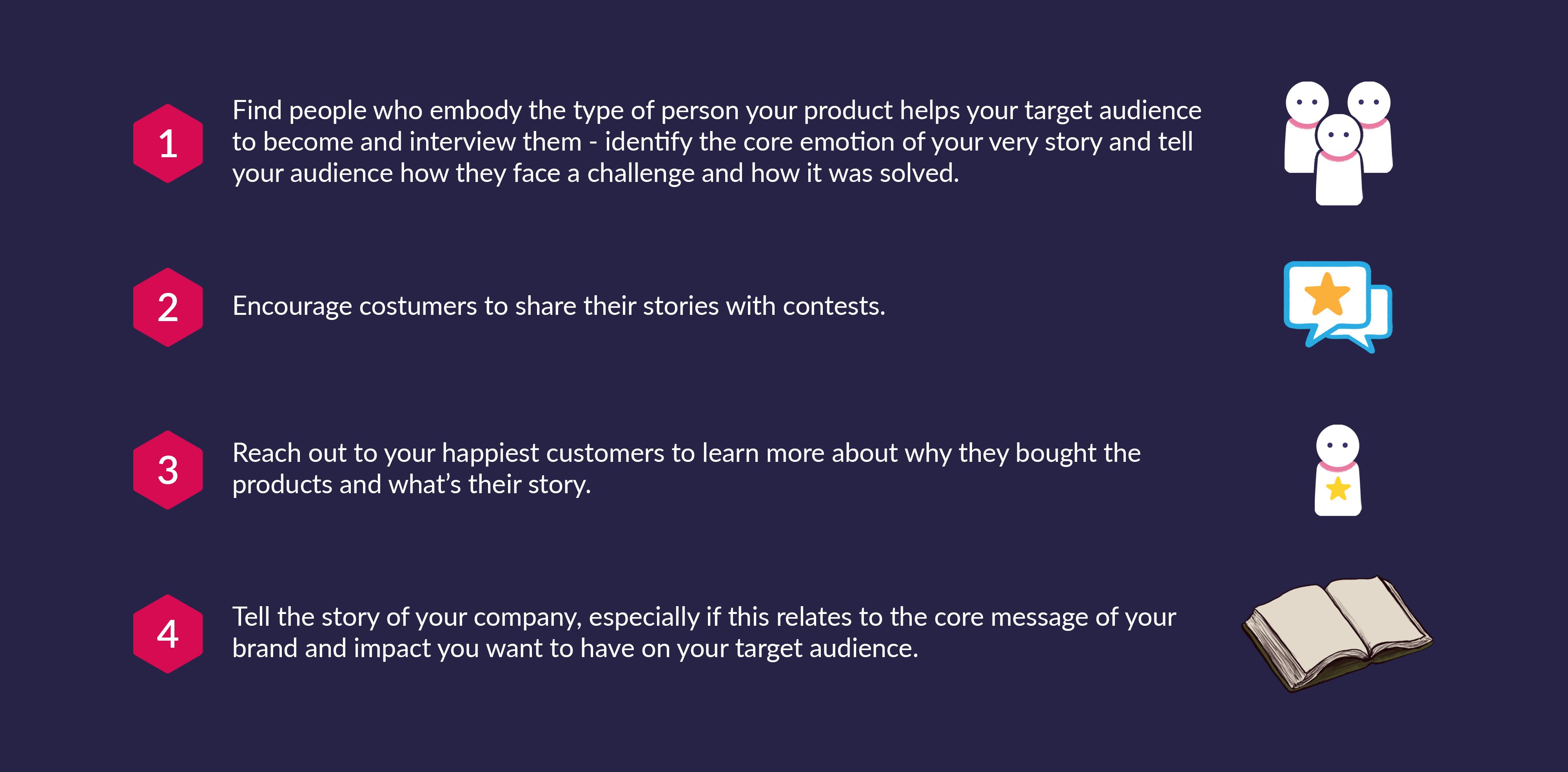Take advantage of storytelling