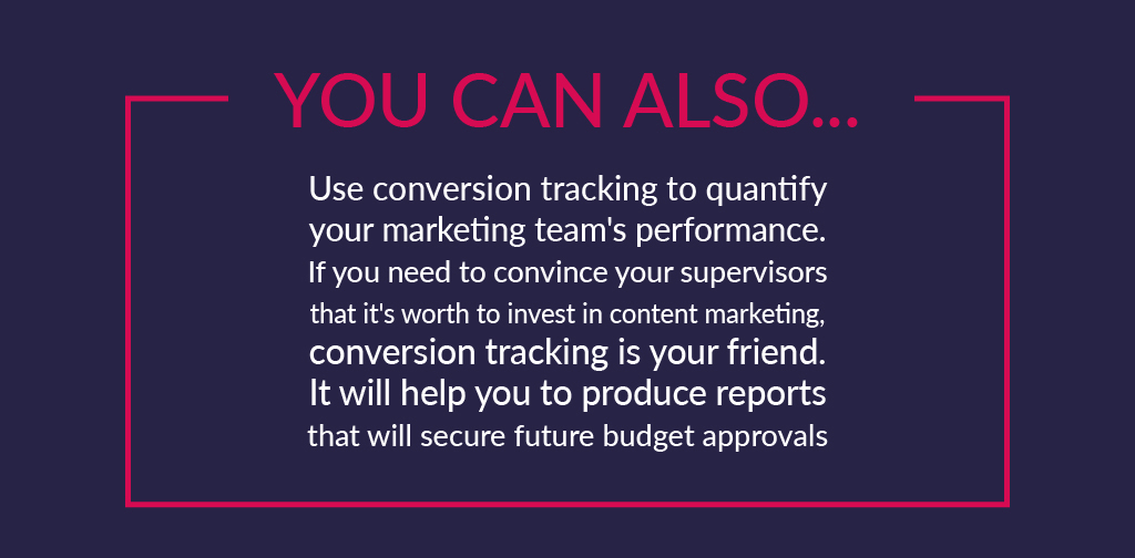 Why do you need to track conversions